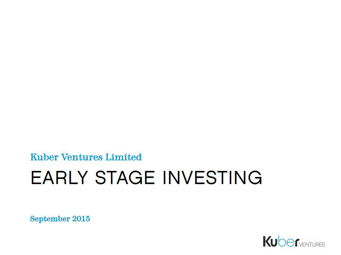 Kuber Ventures presentation